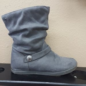 Roxy Gray faux suede  slouch boots